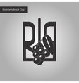 black and white style icon of emblem of Ukraine vector image vector image