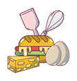 breakfast food cartoons vector image