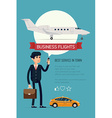 Business Flight Icon vector image vector image