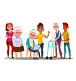 caregivers volunteers grandparents grandkids vector image