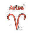cartoon aries zodiac icon in comic style vector image