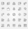 cashback outline icons set cashback and vector image