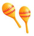 cinco de mayo holiday maracas musical instrument vector image vector image