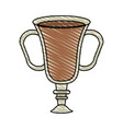 color crayon stripe cartoon transparent glass cup vector image vector image
