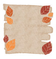 colorful fall leaves banner with brown copyspace vector image