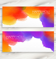 colorful ink banners holi festival vector image vector image