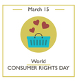 Consumer Rights Day vector image vector image