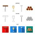 corkscrew alcohol counter barrels in the vault vector image
