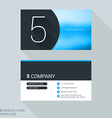 Creative Business Card Template Number Five Flat vector image