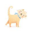 cute soft purr meow cat or kitten cartoon for kids vector image