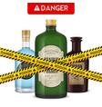 dangerous bottles poison poster vector image vector image