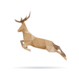 Deer abstract isolated vector image vector image