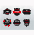 discount and offer sticker for shop promotion vector image