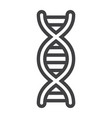 dna line icon science and biology vector image vector image