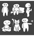 Doodle man is cute vector image