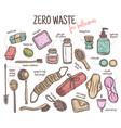 durable items for zero waste bathroom vector image
