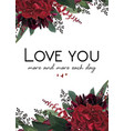 floral greeting valentine gift card design vector image vector image