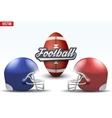 Football ball and helmets vector image