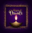 glittery diwali background vector image