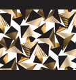 gold and black geometric pyramid vector image vector image