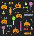 halloween party seamless pattern design postcard vector image vector image