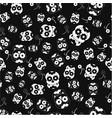 halloween skull pattern vector image