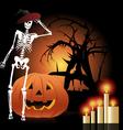 Halloween symbols set vector image vector image