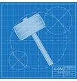 hammer icon Epsblueprint 0 vector image vector image