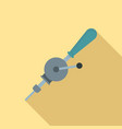hand drill icon flat style vector image