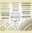 handrawn pattern brushes vector image vector image