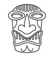 hawaii wood idol icon outline style vector image