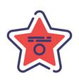 hollywood star flatoutline vector image