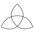 holy trinity icon vector image vector image