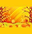 horizontal bright autumn background autumn forest vector image