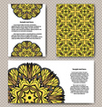Invitation cards design with flower and background vector image