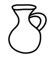 jar canteen pot isolated icon vector image vector image