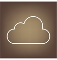 Line icon on the brown background vector image