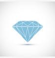 logo blue diamond isolated on white background vector image