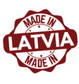 made in latvia sign or stamp vector image vector image