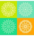 Mandala Round ornament pattern set vector image