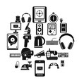 medical equipment icons set simple style vector image