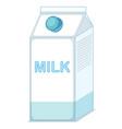 milk in the box vector image