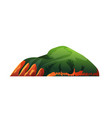 mountain with green forest summer nature landscape vector image vector image