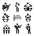 Musician icons vector image