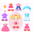 paper doll with vector image vector image