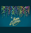 party background with horn birthday background vector image vector image