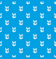 postcard pattern seamless blue vector image vector image