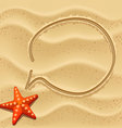 sand speech bubble vector image vector image