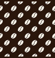 seamless pattern with coffee beans texture vector image