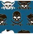 Seamless pattern with skulls vector image vector image